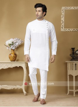 Attractive White Color Pathani Set