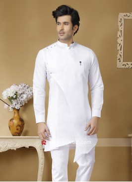 Attractive White Kurta For Party