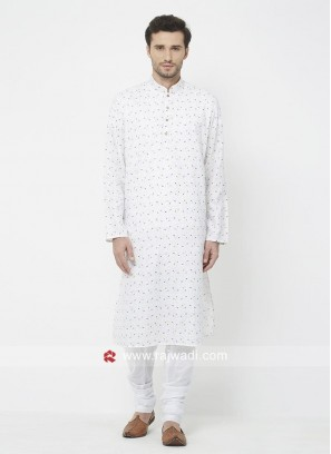 Attractive White Kurta Set For Eid