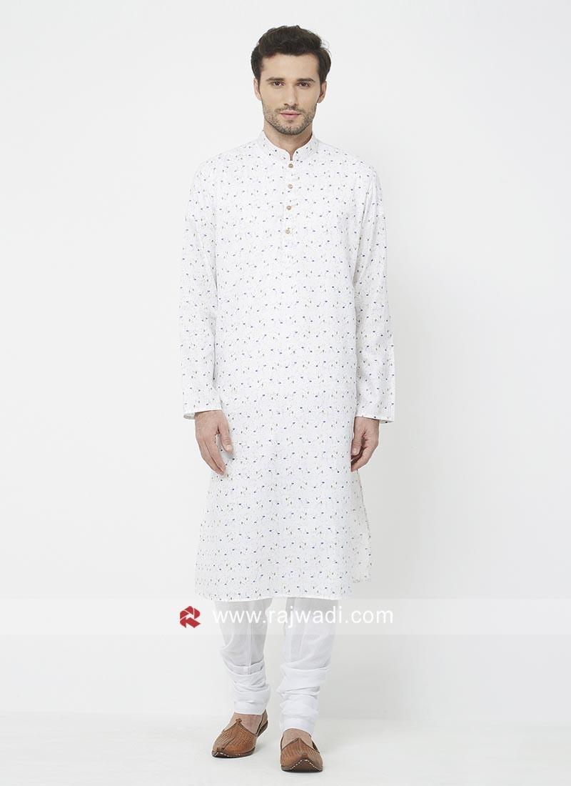 Attractive White Kurta Set