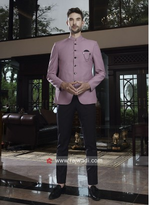 Attractive Pink Color Jodhpuri Suit