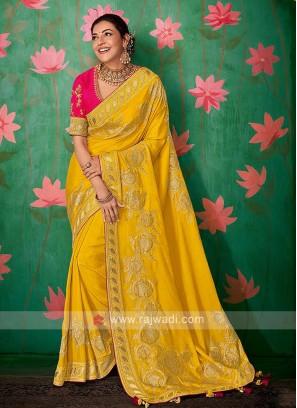 Attractive Yellow Color Saree