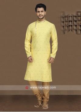 Attractive Yellow Kurta Pajama