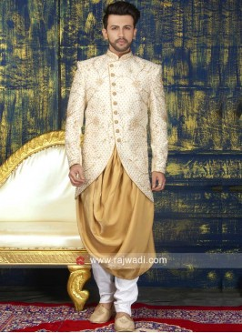 Attractive Zari Indo Western