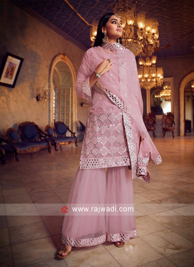Auspicious Pink Thread Designer Pakistani Salwar Suit