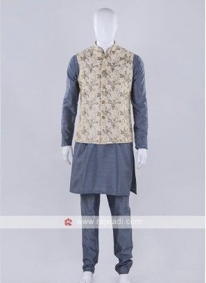 Awesome art silk nehru jacket
