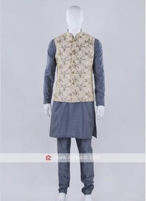 Awesome art silk nehru jacket