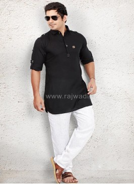Awesome Black coloured Pathani Suit