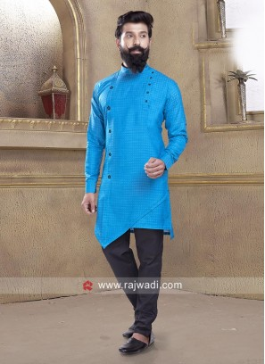 Awesome Light Blue Pathani Suit