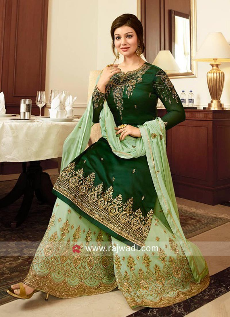 Ayesha Takia Chiffon Gharara Suit