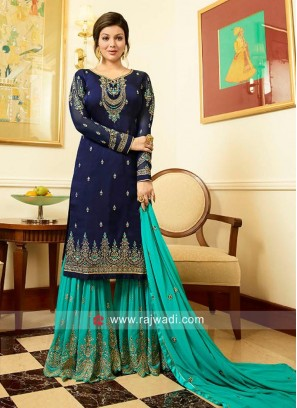 Ayesha Takia Unstitched Embroidered Gharara Suit