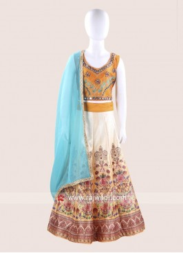 Baby Girl Foil Print Chaniya Choli