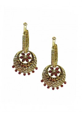 Bali Drop Maroon Earrings