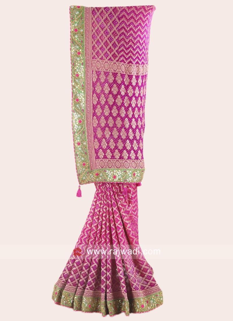 Banarasi Chiffon Shaded Saree