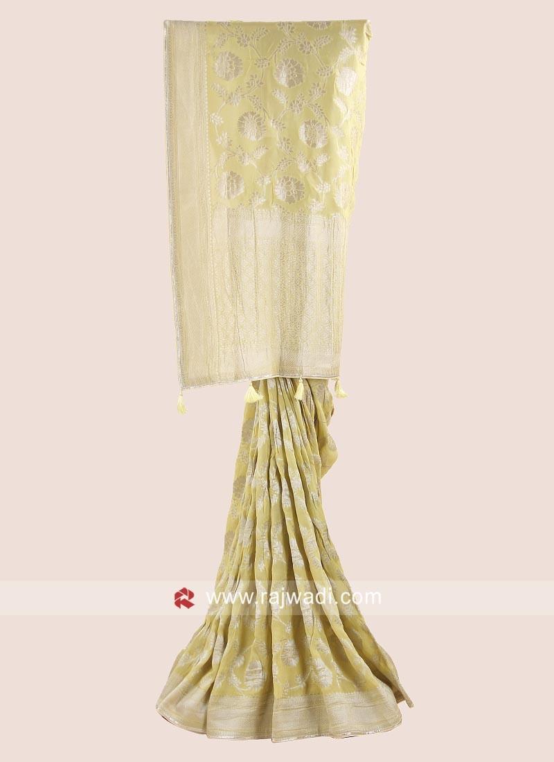 Banarasi Chiffon Woven Sari with Blouse