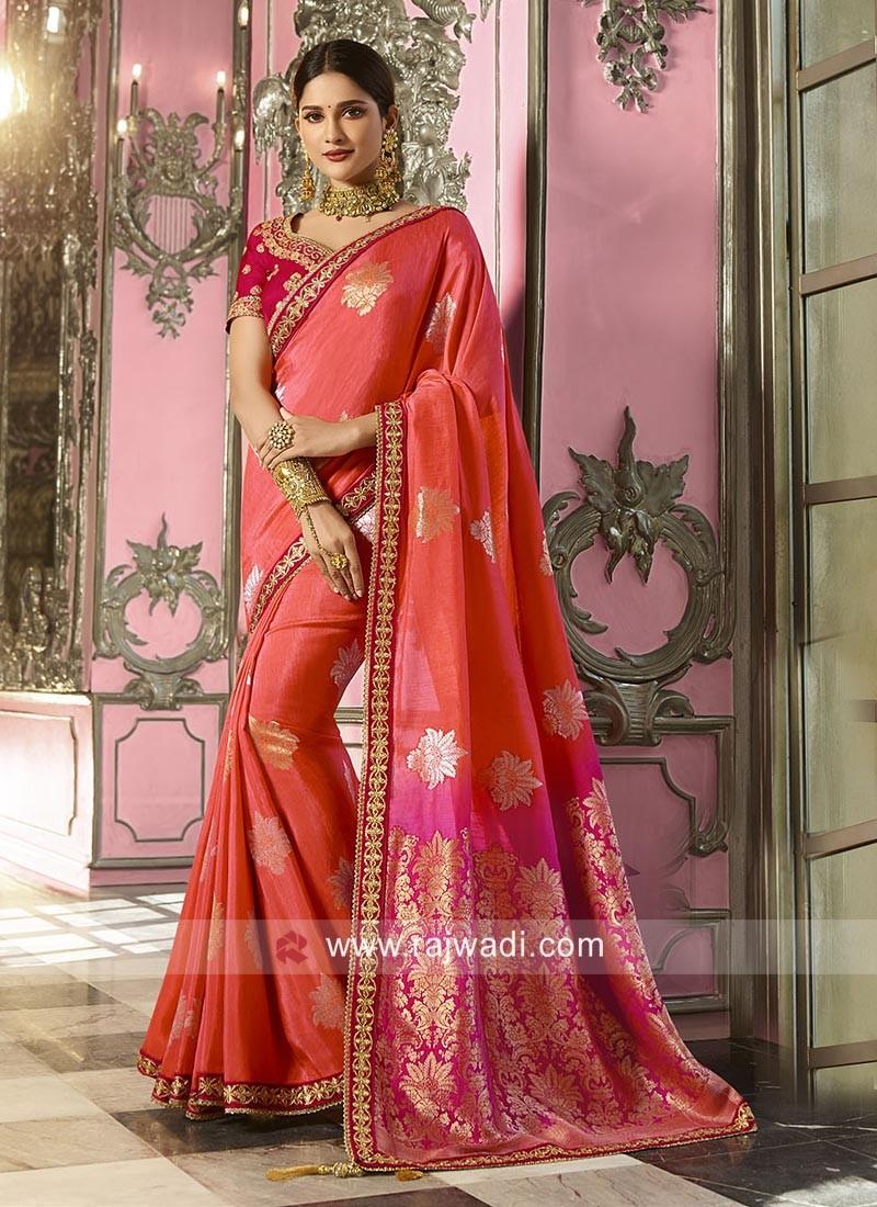 Banarasi Crepe Silk Wedding Saree