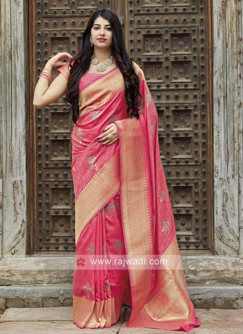 Banarasi Saree In Pink