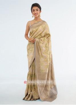 Banarasi Shimmer Silk Color Saree