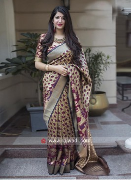 Banarasi Silk Checks Saree