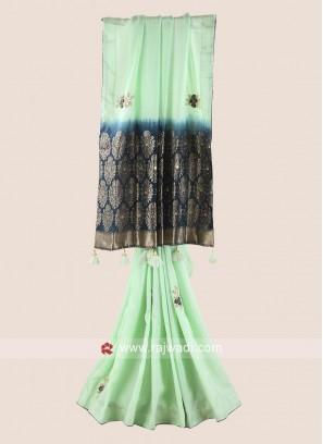 Banarasi Silk Designer Saree with Border