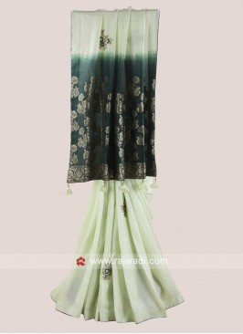 Banarasi Silk Designer Saree with Border