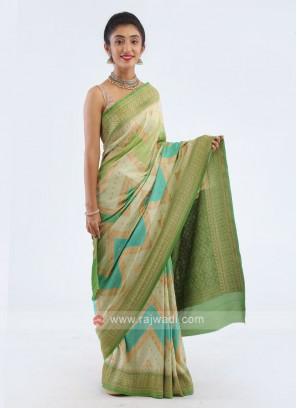 Banarasi Dola Silk Saree In Green