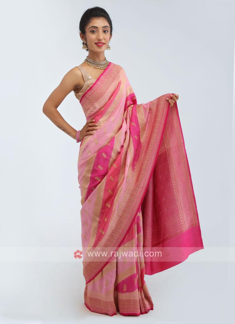 Banarasi Dola Silk Saree In Pink