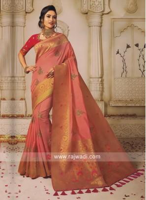 Banarasi Silk Embroidered Saree