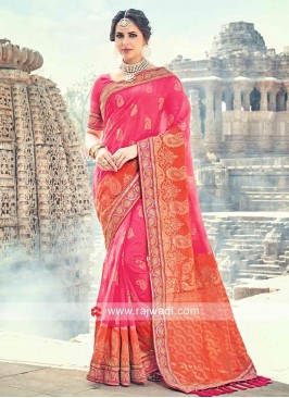 Banarasi Silk Embroidered Saree