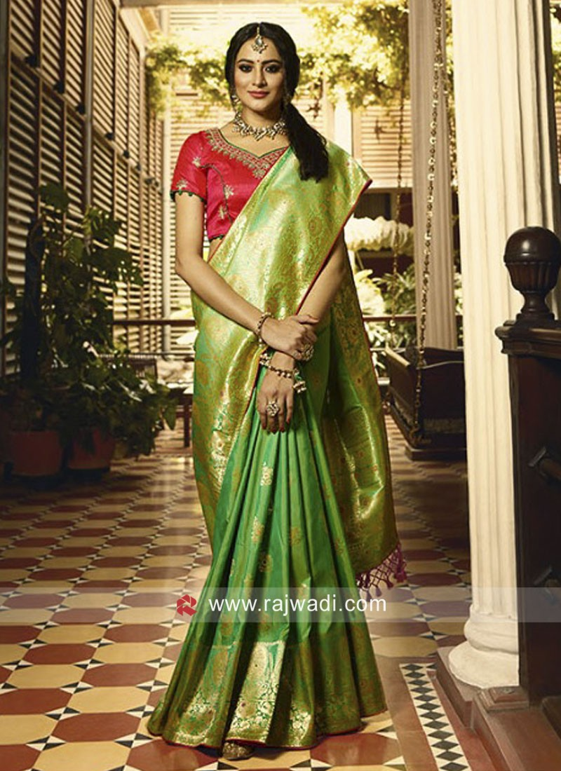 Banarasi Silk Green Saree