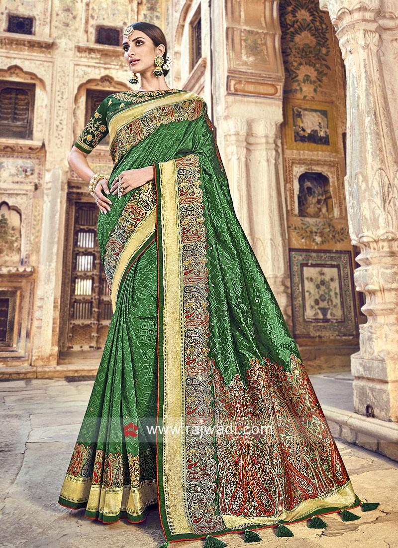 Banarasi Silk Green Saree