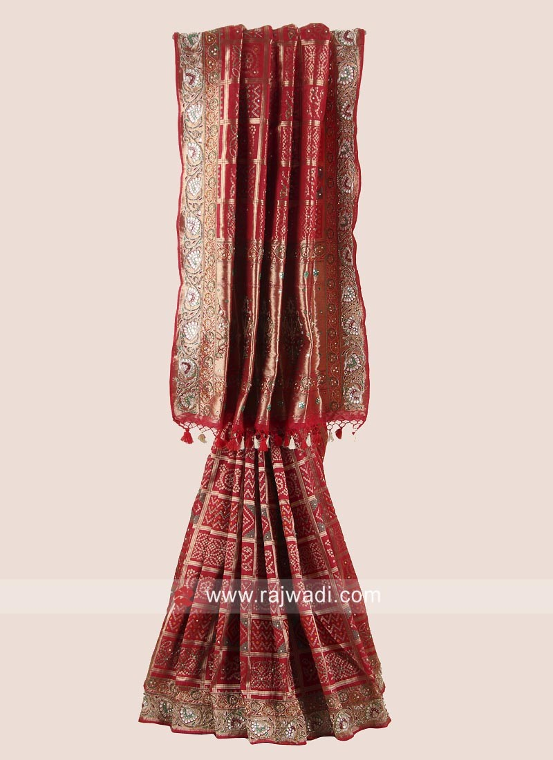 Banarasi  Silk Heavy Embroidered Saree