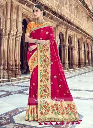 Banarasi Silk Heavy Wedding Saree