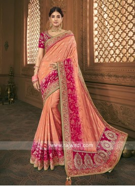 Banarasi Silk Heavy Work Saree