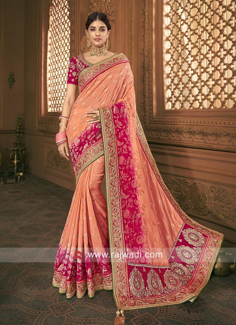 Banarasi Silk Heavy Work Saree
