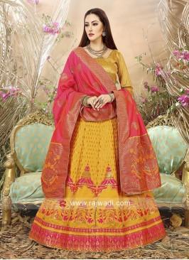 Banarasi Silk Jacquard Lehenga Choli