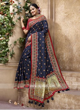 Banarasi Silk Navy Blue Saree