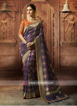 Banarasi Silk Navy Saree