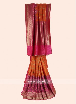Banarasi Silk Patola Saree with Blouse