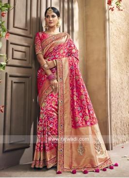 Banarasi silk Pita work Saree