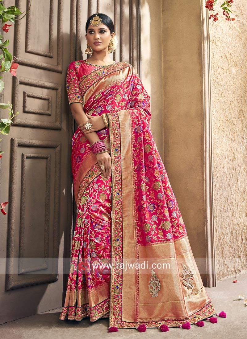 Banarasi silk Pita work Saree