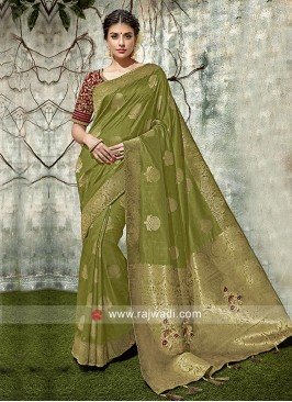 Banarasi Silk Resham Work Saree
