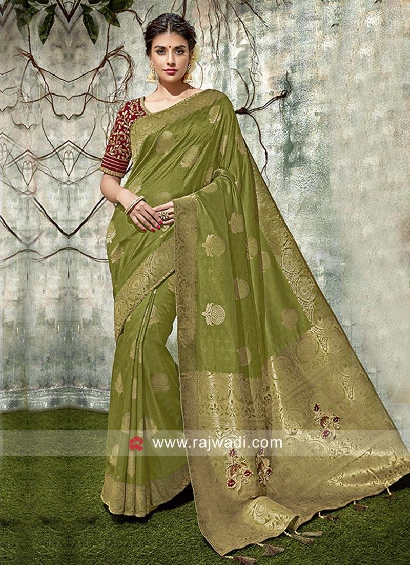Banarasi Silk Resham Work Saree