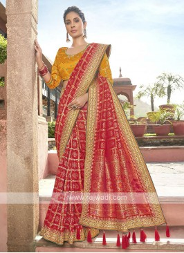 Banarasi Silk Saree In Red