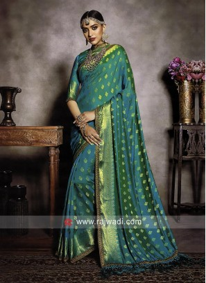 Banarasi Silk Saree with Matching Blouse