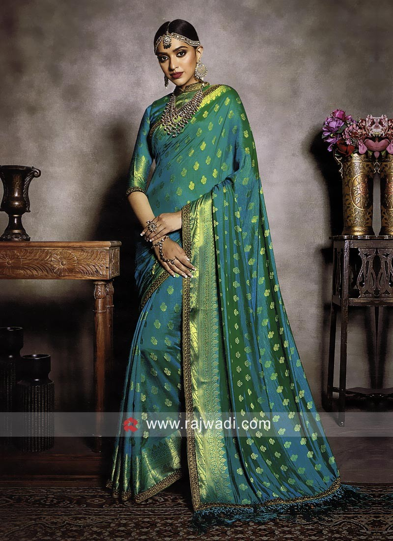 Banarasi Silk Saree with Matching Blouse