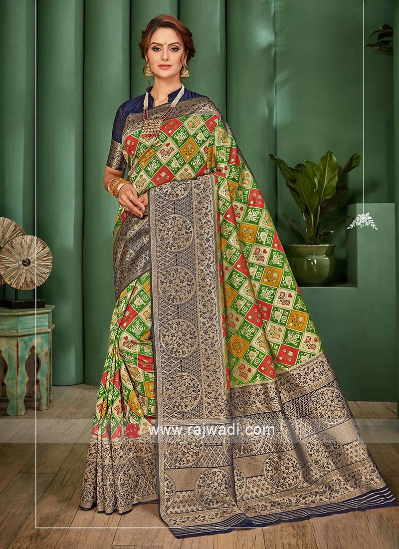 Banarasi Silk Saree With Patola Work