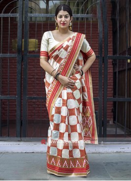 Banarasi Silk Saree with Silk Blouse