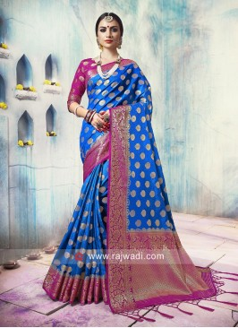Banarasi Silk Saree with Tassels