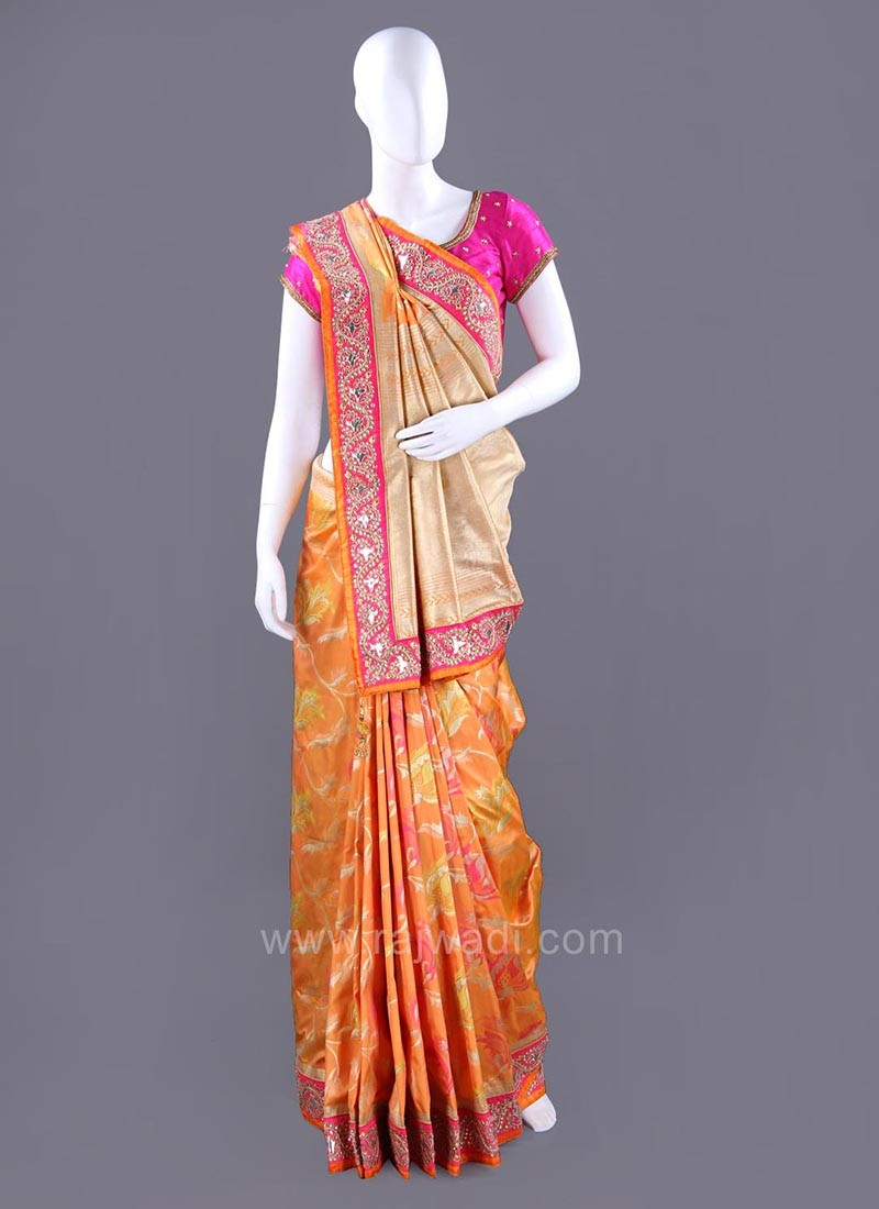 Banarasi Silk Saree with Traditional Color